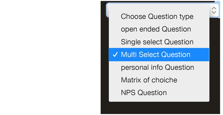 Surveys menu