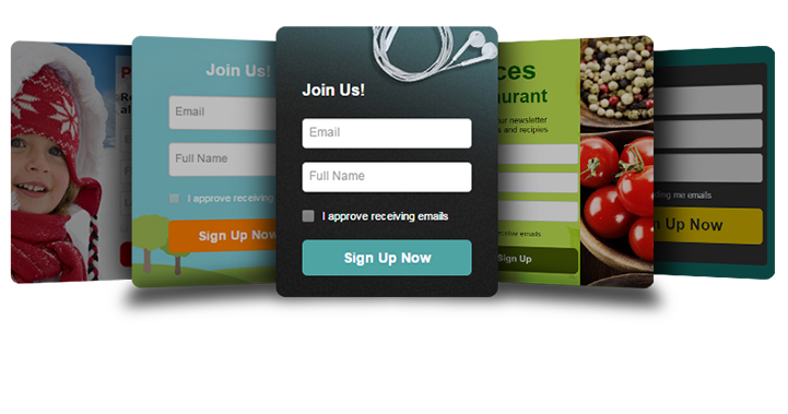 email marketing software signup forms