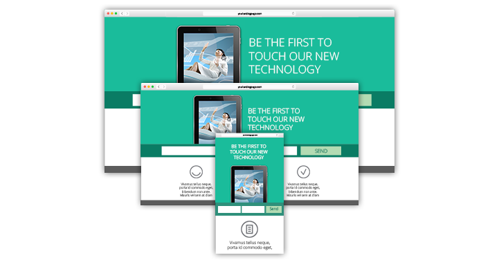 landing page software mobile