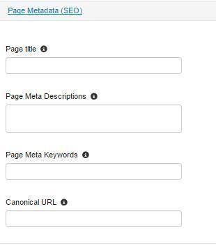Page metadata